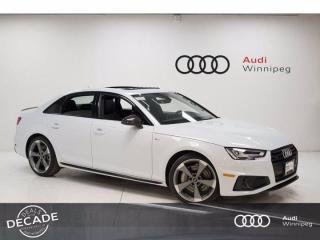 New 2019 Audi A4 Sedan Technik Head Up Display & Carbon Mirrors *DEMO* for sale in Winnipeg, MB