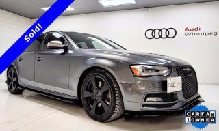 Used 2016 Audi S4 Technik plus w/Adaptive Suspension & Dynamic Steering for sale in Winnipeg, MB