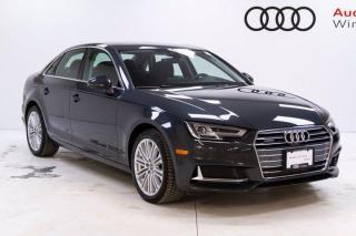 New 2019 Audi A4 Sedan Technik w/Head Up Display *DEMO* for sale in Winnipeg, MB