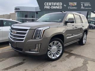 Used 2019 Cadillac Escalade Platinum 4WD | Massaging Seats | 3 DVDs for sale in Winnipeg, MB