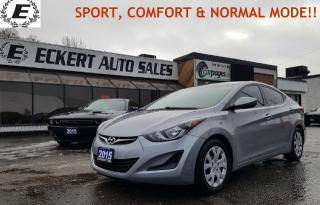 Used 2015 Hyundai Elantra GL/SPORT, COMFORT & NORMAL MODES!! for sale in Barrie, ON