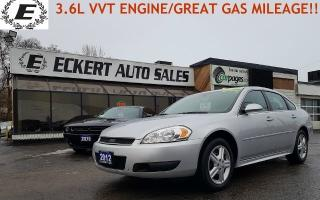 Used 2012 Chevrolet Impala LS/ GREAT FUEL ECONOMY!! for sale in Barrie, ON