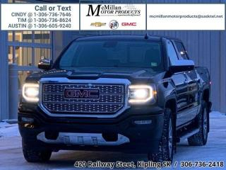 Used 2017 GMC Sierra 1500 Denali  6.2L V8,4X4,LEATHER,HEATED SEATS,NAV,REAR for sale in Kipling, SK