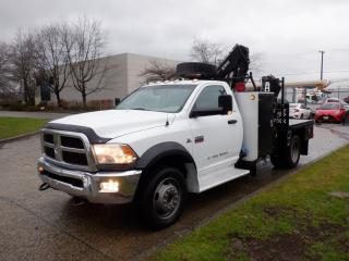 Used 2012 Dodge Ram 5500 Flat Deck Crane Service Truck 4WD Diesel for sale in Burnaby, BC