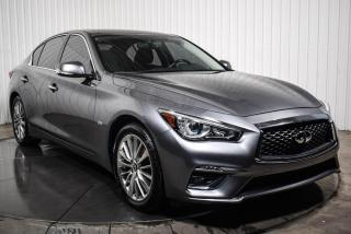 Used 2018 Infiniti Q50 LUXE AWD 2.0T CUIR TOIT MAGS CAMERA DE R for sale in St-Hubert, QC