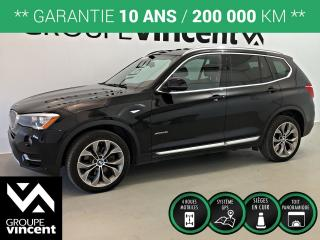 Used 2016 BMW X3 XDRIVE 2.8i AWD GPS TOIT ** GARANTIE 10 ANS ** Un vus qui se conduit comme une berline! for sale in Shawinigan, QC