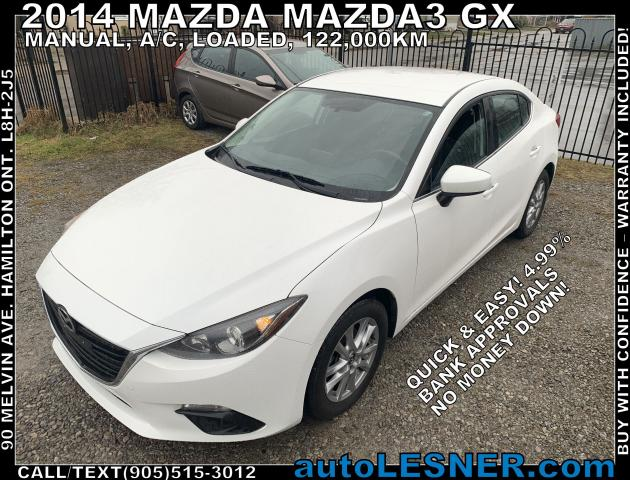 2014 Mazda MAZDA3 -ZERO DOWN, $156 for 60 months FINANCE TO OWN!