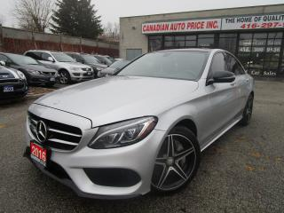 Used 2016 Mercedes-Benz C-Class C 300-4MATIC-NAVI-LETHER-PANO-ROOF-CAM-AMG-PKG-BLT for sale in Scarborough, ON