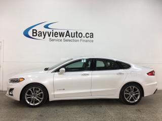 Used 2019 Ford Fusion Hybrid Titanium - HTD LEATHER! NAV! SUNROOF! FUEL SAVER! for sale in Belleville, ON