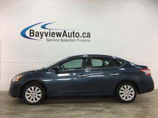 Used 2014 Nissan Sentra 1.8 S - AUTO! BLUETOOTH! A/C! PWR GROUP! for sale in Belleville, ON