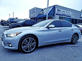Used 2015 Infiniti Q50 Sport 1 OWNER|NO ACCIDENT|NAVIGATION|AWD|SUNROOF|CERTIFIED for sale in Concord, ON