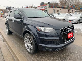 Used 2010 Audi Q7 7 SEATER- BK UP CAM-LEATHER-PWR SEATS-USB-AUX for sale in Scarborough, ON