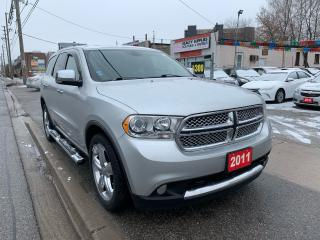 Used 2011 Dodge Durango 7 SEATER- NAVI-BK UP CAM-LEATHER-CITADEL-SUNROOF for sale in Scarborough, ON