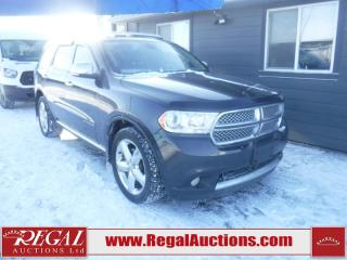 Used 2011 Dodge DURANGO CITADEL 4D UTILITY 4WD for sale in Calgary, AB