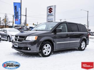 Used 2016 Dodge Grand Caravan Crew ~Heated Seats + Wheel ~Backup Cam ~Stow 'N Go for sale in Barrie, ON