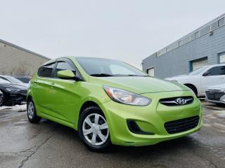 Used 2012 Hyundai Accent |HATCHBACK|MUTI-FUNCTIONAL STEERING WHEEL & MUCH MORE! for sale in Brampton, ON