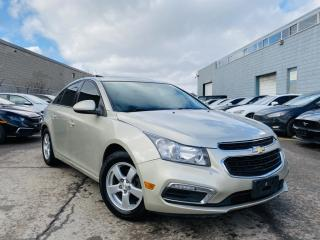 Used 2015 Chevrolet Cruze |SUN ROOF|LEATHER HEATED SEATS|REAR VIEW CAMERA|ALLOYS! for sale in Brampton, ON