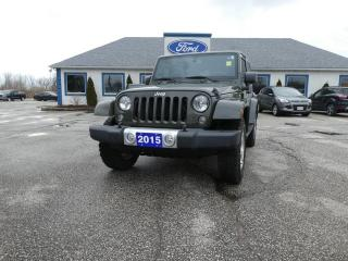 Used 2015 Jeep Wrangler Sahara - SALE PENDING - REMOTE START - NAVIGATION - CRUISE CONTROL - DUAL TOP for sale in Essex, ON