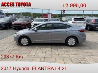 Used 2017 Hyundai Elantra nouveau prix for sale in Rouyn-Noranda, QC