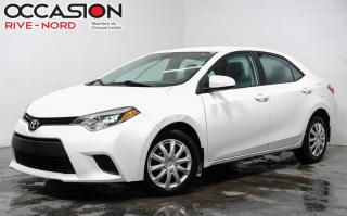 Used 2015 Toyota Corolla LE BLUETOOTH+A/C for sale in Boisbriand, QC