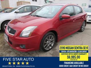 Used 2010 Nissan Sentra SE-R *Clean Carfax* Certified w/ 6 Month Warranty for sale in Brantford, ON