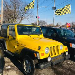 Used 2002 Jeep Wrangler HARD + SOFT TOP CONVERTIBLE for sale in Toronto, ON