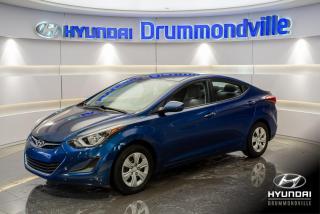 Used 2016 Hyundai Elantra L + GARANTIE + GROUPE ÉLECTRIQUE + WOW ! for sale in Drummondville, QC