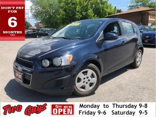 Used 2015 Chevrolet Sonic LS |  Auto | A/C |  Bluetooth | Pwr Locks | for sale in St Catharines, ON