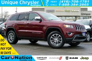 Used 2016 Jeep Grand Cherokee LIMITED| REAR CAM| SUNROOF| LEATHER| REMOTE START for sale in Burlington, ON