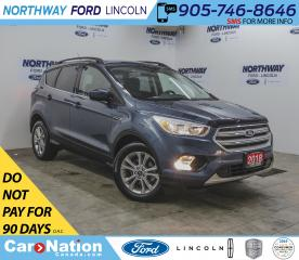 Used 2018 Ford Escape SE | HTD SEATS | BACKUP CAM | BLUETOOTH | SYNC | for sale in Brantford, ON