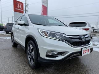 Used 2016 Honda CR-V Touring One Owner! No Accidents! Honda Certified Powertrain Warranty until 1/23/2023 or 160,000km! for sale in Waterloo, ON