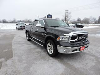 Used 2016 RAM 1500 Limited. Leather. Air suspension. Navigation for sale in Gorrie, ON