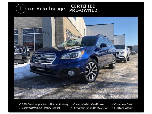 2016 Subaru Outback 2.5i LIMITED PKG, LEATHER, SUNROOF, HEATED SEATS!!