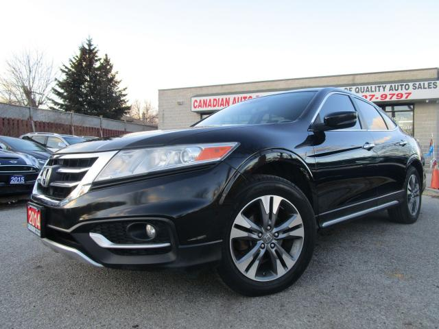 2014 Honda Accord Crosstour EX-L-4WD-NAVI-CAM-LTHER-ROOF-V6-BLTOOT-ALLOY
