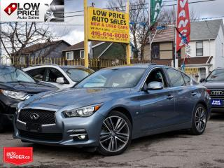Used 2015 Infiniti Q50 AWD*Leather*Sunroof*Navi*Camera&InfinitiWarranty* for sale in Toronto, ON