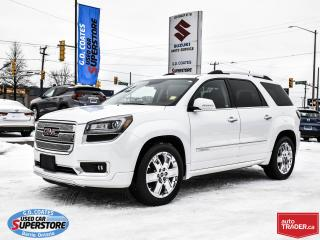 Used 2016 GMC Acadia Denali AWD ~7 Passenger ~Nav ~DVD ~Heated Leather for sale in Barrie, ON