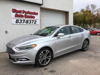 Used 2017 Ford Fusion Titanium AWD, Navigation, Htd Leather for sale in Winnipeg, MB