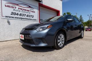 Used 2016 Toyota Corolla LE **Heated Seats**Back-up Cam** for sale in Winnipeg, MB