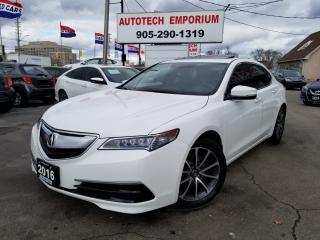 Used 2016 Acura TLX Prl White SH-AWD w/Tech Pkg Navigation/Leather/Sunroof for sale in Mississauga, ON