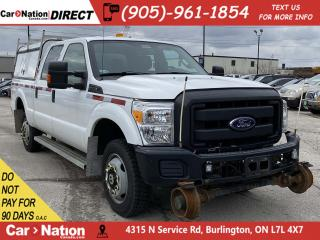 Used 2015 Ford F-350 XL| 4X4| TRUCK CAP| RAIL TRUCK| LEATHER| for sale in Burlington, ON