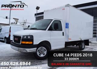 Used 2018 GMC Savana 3500 ** Cube 14 pieds ** RAMPE ** COMME NEUF** for sale in Laval, QC