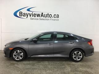 Used 2018 Honda Civic LX - AUTO! A/C! PWR GROUP! HTD SEATS! REV CAM! for sale in Belleville, ON