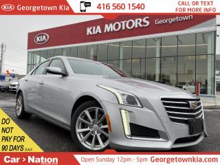 Used 2017 Cadillac CTS 2.0L Turbo   LEATHER BU CAM CLEAN CARFAX HTD SEATS for sale in Georgetown, ON