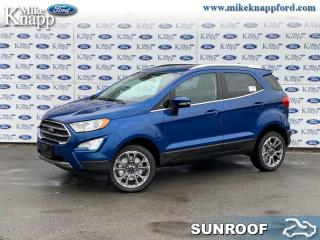New 2020 Ford EcoSport Titanium 4WD  - Leather Seats for sale in Welland, ON