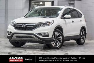 Used 2016 Honda CR-V TOURING AWD; CUIR TOIT CAMERA GPS ANGLES MORT NAVIGATION - CAMÉRA DE RECUL - ALERTE COLLISION AVANT - SIÈGES CHAUFFANT - MAGS 18'' for sale in Lachine, QC