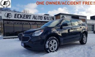 Used 2017 Chevrolet Equinox LS  ONE OWNER/ACCIDENT FREE!! for sale in Barrie, ON