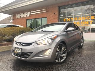 Used 2014 Hyundai Elantra Limited Navi Sunroof Heated Seats Rear Cam Certif* for sale in Concord, ON