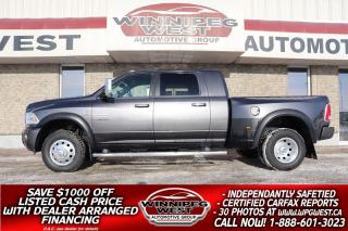 Used 2015 RAM 3500 LONGHORN LIMITED MEGA DUALLY 4X4, CUMMINS, LOADED! for sale in Headingley, MB