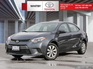 Used 2016 Toyota Corolla LE for sale in Whitby, ON