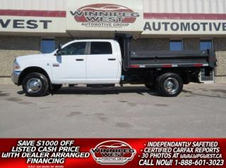 Used 2011 RAM 3500 SLT CREW CUMMINS DUMP/DECK TRUCK, CLEAN! for sale in Headingley, MB